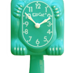 Emerald Green Lady Kit-Cat Clock